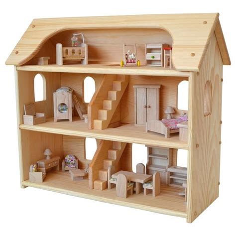 plan toys dolls house seri s dollhouse wooden doll houses