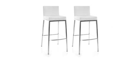 White Bar Stools Set Of 3 by White Modern Bar Stools Epsilon Set Of 2 Miliboo