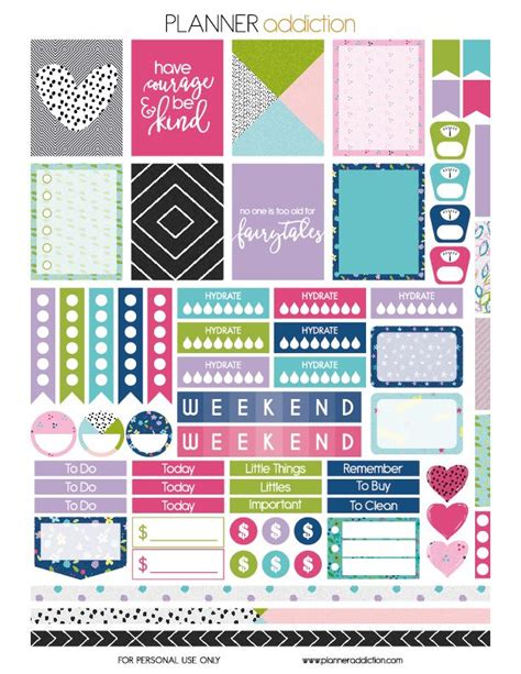 Galerry printable passion planner stickers