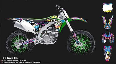 Motorrad Dekor Designen by Kawasaki Dekor Design Huckabuck Mx Kingz Motocross Shop
