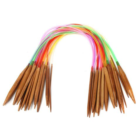 what size knitting needles for a scarf 18 sizes 40cm carbonized bamboo colorful circular knitting