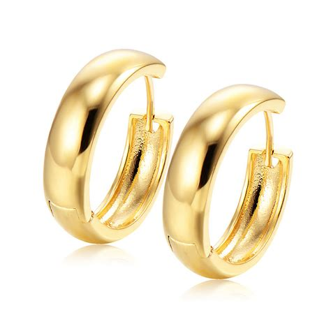 Engagement Earrings by Fashion 18k Gold Filled Womens Small Hoop Earrings