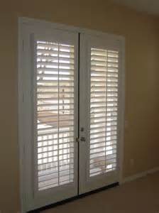 Shutter Blinds For Sliding Glass Doors Furniture Brown Flat Roman Shades On White Wooden French