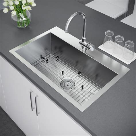 top mount stainless steel sink exclusive heritage 33 x 22 single bowl topmount
