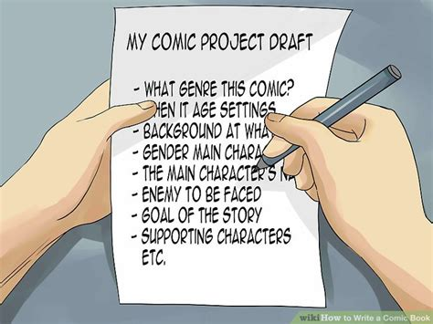 How To Make A Comic Book Out Of Paper - how to write a comic book with sle comics wikihow