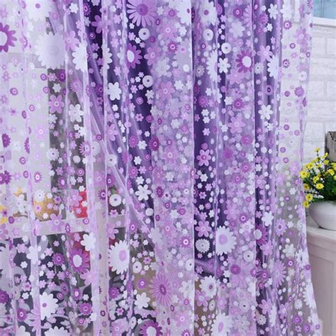 floral window curtains floral voile balcony window curtain drape panel sheer