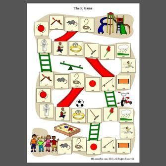 printable articulation board games free pdf of a board game that focuses on r sounds found