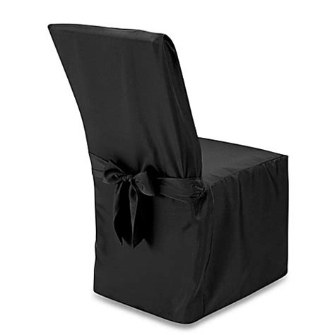 black dining room chair covers buy dining room chair cover in black from bed bath beyond