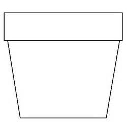 flower pot coloring page flower pot template printable flower pot coloring page
