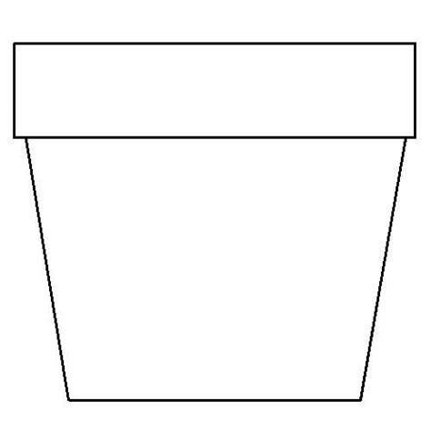 flower pot template printable flower pot coloring page