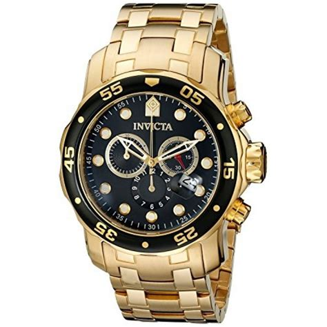 invicta s 0072 pro diver collection chronograph 18k