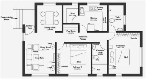 Charming How Wide Is A 2 Car Garage #4: House-plan-for-15-feet-by-60.jpg