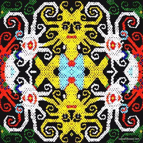 pattern batik kalimantan desain gambar khas etnik dayak untuk sablon t shirt art