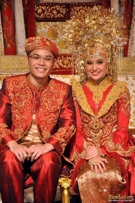 Kebaya Kr 131 pengantin ala minang cantik dengan merah cultural