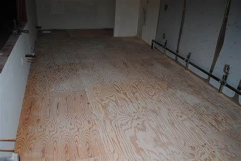 how to apply a decorative finish to plywood sub floors