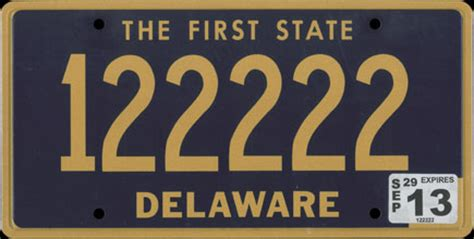 De Vanity Plates by Vehicle Registration Plates Of Delaware
