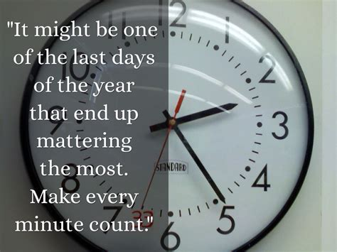 quot it might be one of the last days of the year that end up