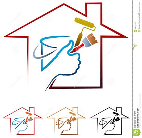 house painter logo house painting logo stock vector image 53157117