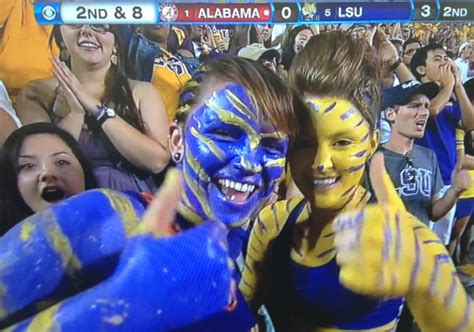 alabama lsu fan hot college football fans painted