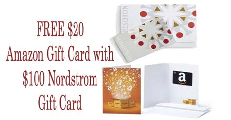 Nordstrom Gift Card Promo Code - free 20 amazon gift card with 100 nordstrom gift card purchase coupons 4 utah