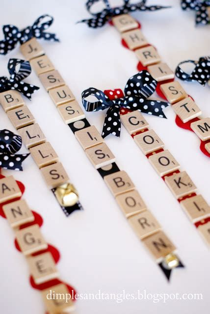 scrabble hyphenated words scrabble tile ornaments dimples and tangles