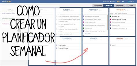 como hacer layout en excel c 243 mo hacer una agenda semanal con weekly planner youtube