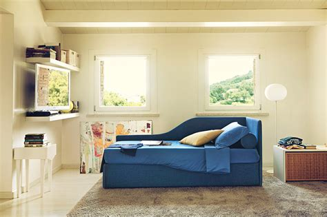 letto singolo a divanetto space di noctis letto imbottito per cameretta in outlet