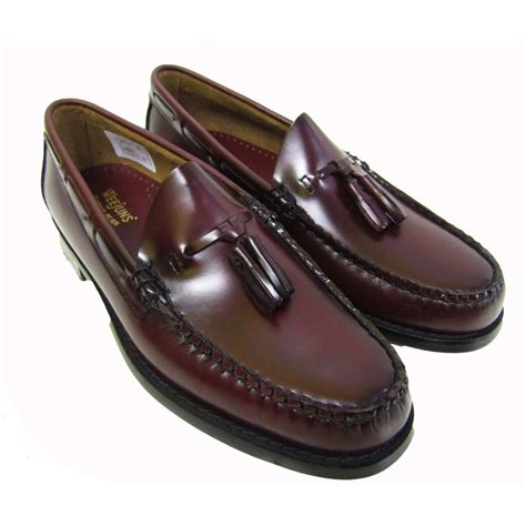 loafers with tassels for bass weejuns larkin tassel loafers in burgundy