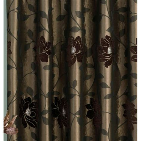 chocolate pencil pleat curtains sundour carnaby chocolate floral pencil pleat ready made
