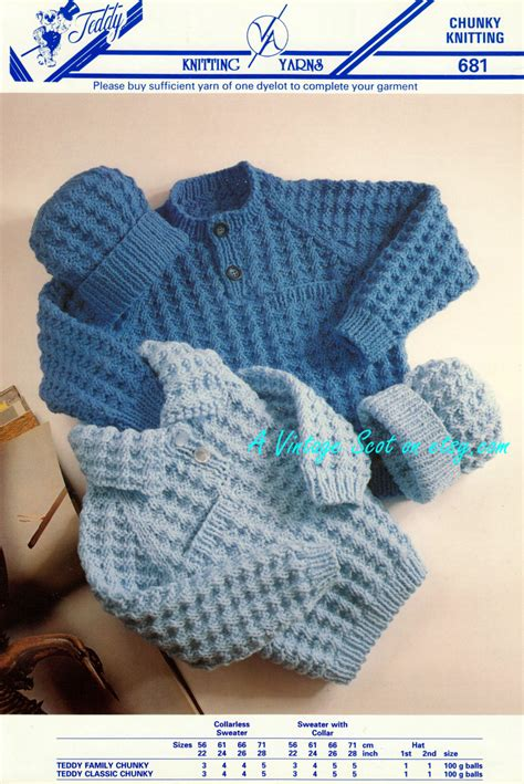 knitting pattern baby sweater bulky yarn toddler child s chunky bulky sweater jumper hat 2