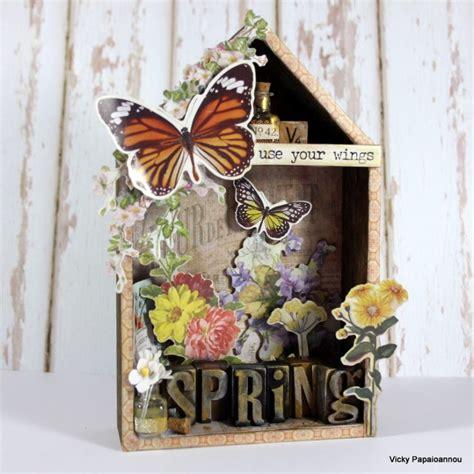 tim house tim holtz spring vignette house simon says st blog