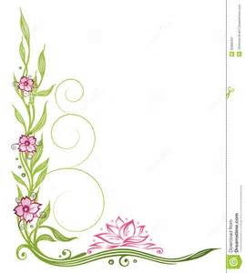 lotus flowers border stock vector image of colorful