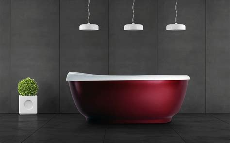 red bathtubs aquatica fido red freestanding solid surface bathtub