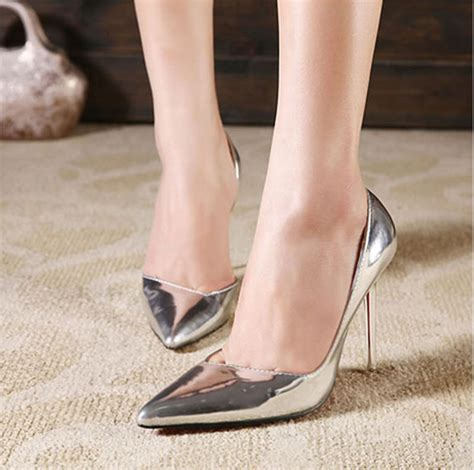 with pointed shoes lighter silver high