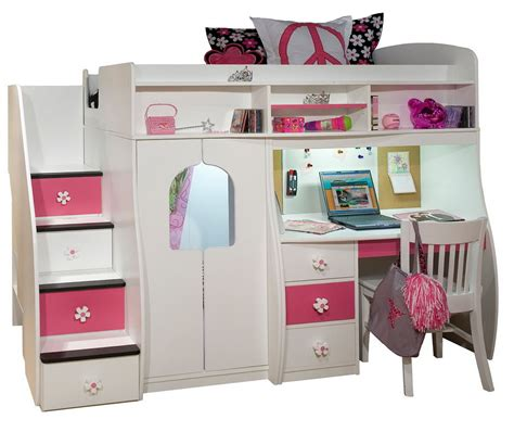 bunk beds for girls with desk bunk beds with desk for girls home design ideas