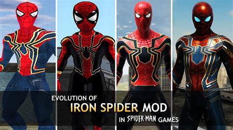 evolution mcu iron spider mod spider man games