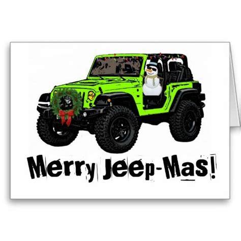 jeep card merry jeep festive green wrangler card