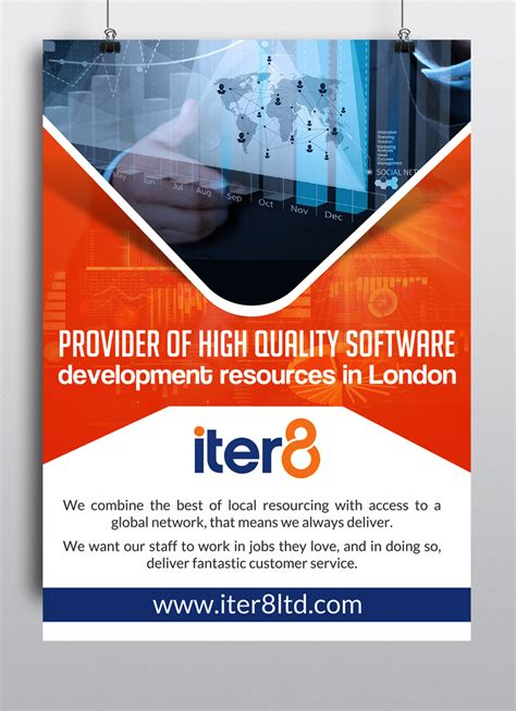 design poster company bold modern poster design for iter8 by hih7 design 6481245