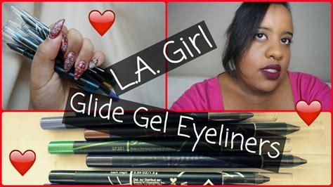 La Gel Glide Eyeliner Pencil Bronze l a glide gel eyeliners review set swatches