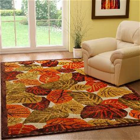 Fall Kitchen Rugs by Riva Carpets Autumn Leaves Wool Area Rug Rugs Homeshop18