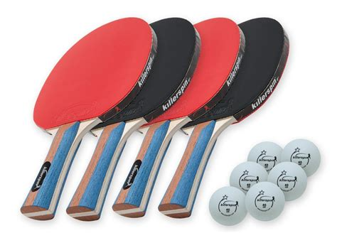 ping pong set for any table killerspin jetset4 table tennis set with 4 ping pong