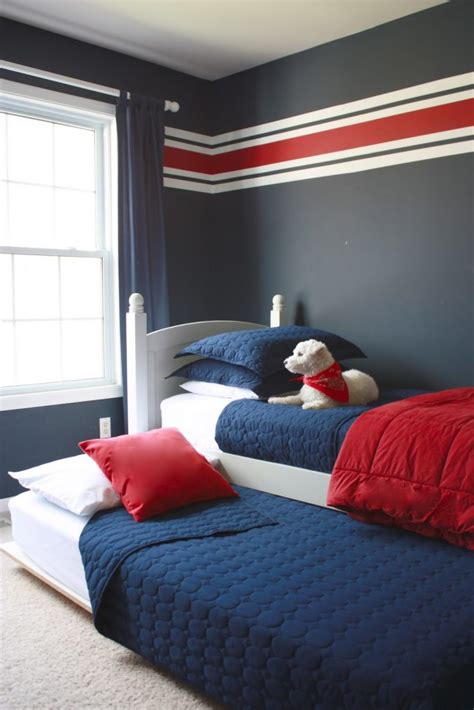 grey and blue wall black bed paint ideas for bedroom