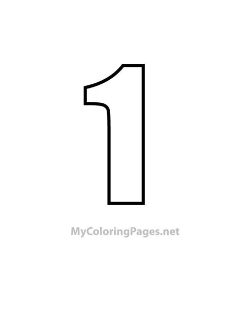 free coloring pages number 1 tight style numbers free