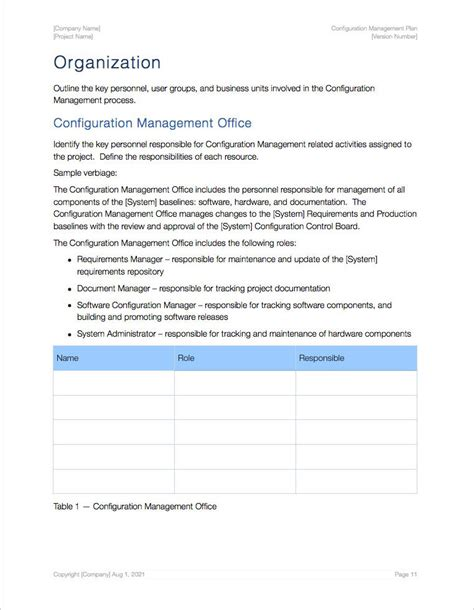 Configuration Management Plan Template Apple Iwork Pages Configuration Management Policy Template