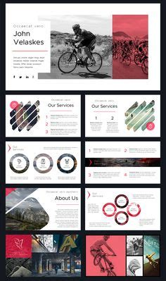 design brochure using powerpoint red tie business powerpoint template for business