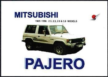 manual repair free 1986 mitsubishi pajero engine control mitsubishi pajero 1985 1990 owners manual 1869760891 9781869760892