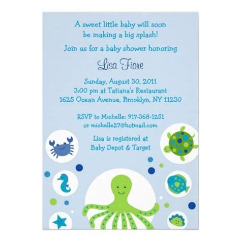 The Sea Baby Shower Invitations by The Sea Nautical Baby Shower Invitations Baby