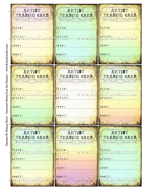 artist trading card back template 17 best images about atc resources on trading