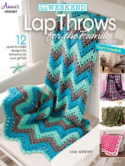 intermediate crochet books in a weekend throws for the family annies crochet books