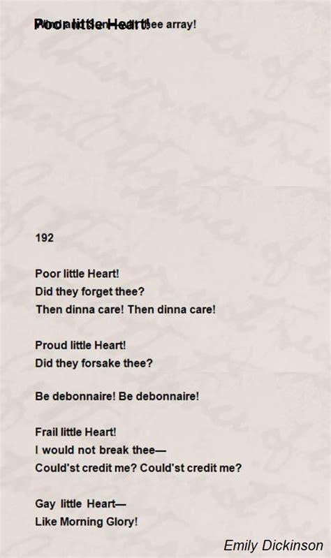 emily dickinson biography poem hunter poor little heart poem by emily dickinson poem hunter